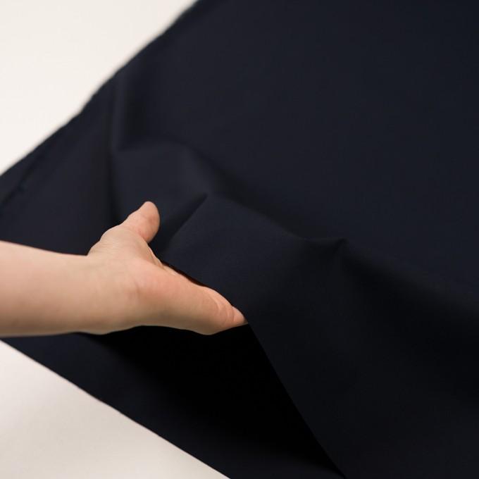 コットン&ポリウレタン×無地(ダークネイビー)×二重織ストレッチ イメージ5