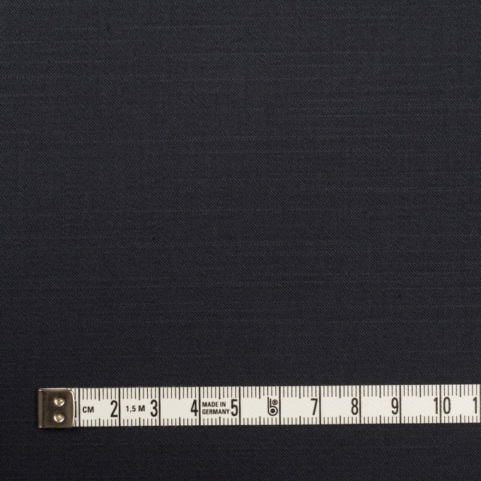 コットン&ポリウレタン×無地(ダークネイビー)×二重織ストレッチ イメージ4