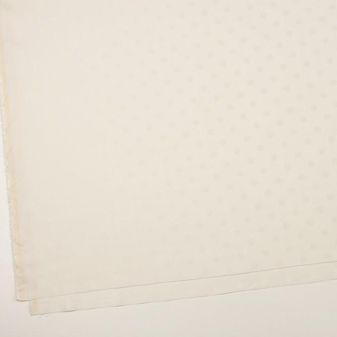 コットン&シルク×水玉(エクリュ)×二重織ジャガード イメージ2