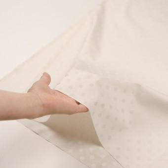 コットン&シルク×水玉(エクリュ)×二重織ジャガード サムネイル5