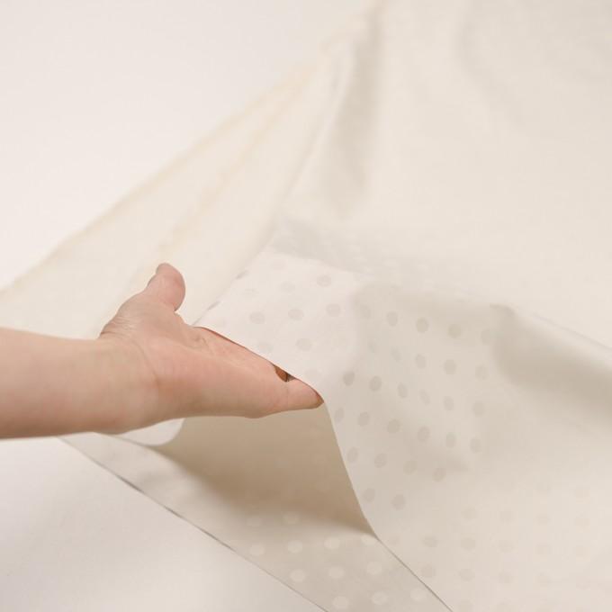 コットン&シルク×水玉(エクリュ)×二重織ジャガード イメージ5