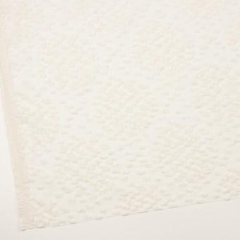 コットン&キュプラ混×サークル(エクリュ)×オーガンジー・カットジャガード_全2色 サムネイル2