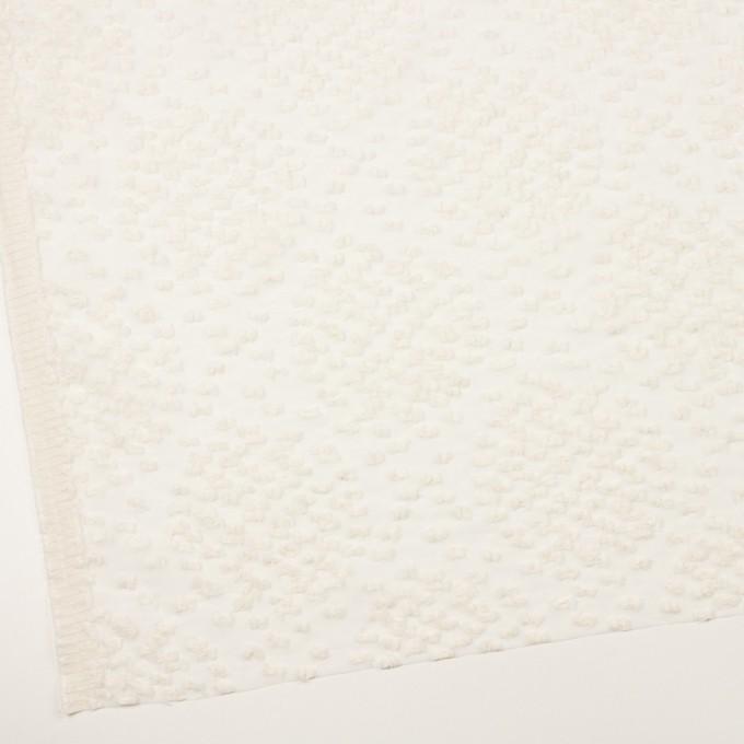 コットン&キュプラ混×サークル(エクリュ)×オーガンジー・カットジャガード_全2色 イメージ2