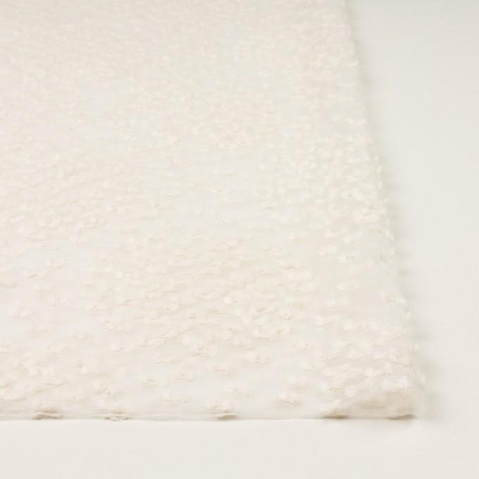 コットン&キュプラ混×サークル(エクリュ)×オーガンジー・カットジャガード_全2色 イメージ3