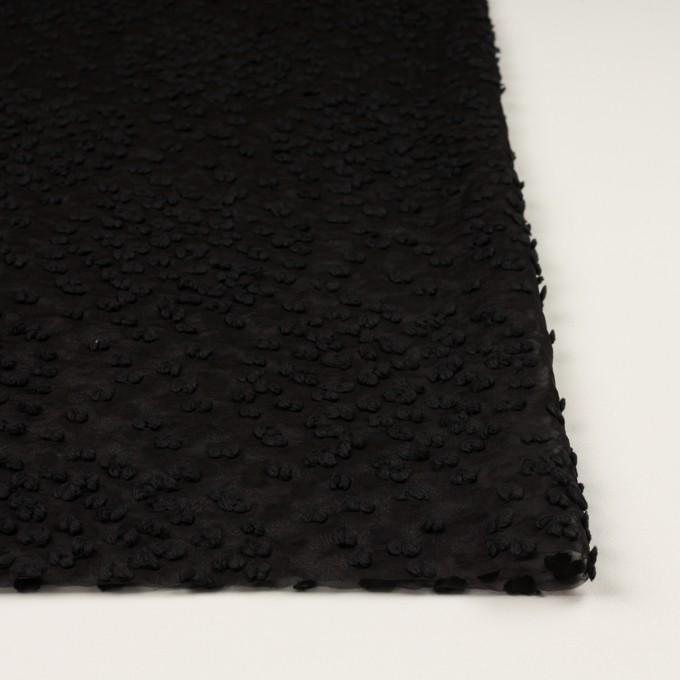 コットン&キュプラ混×サークル(ブラック)×オーガンジー・カットジャガード_全2色 イメージ3