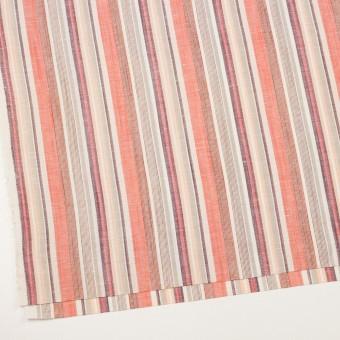 コットン&リネン×ストライプ(オレンジ、プラム&ネープルス)×薄キャンバス サムネイル2