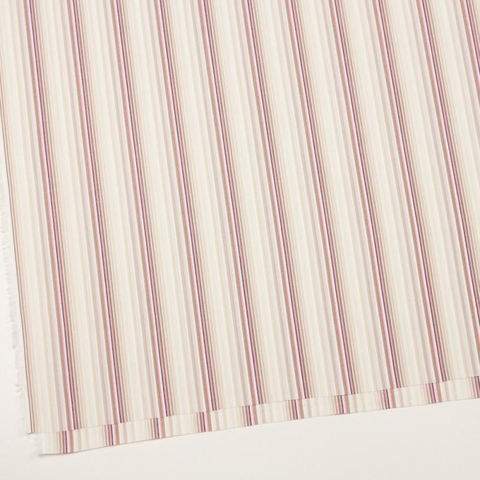 コットン×ストライプ(ピンク&カーキベージュ)×ブロードジャガード イメージ2