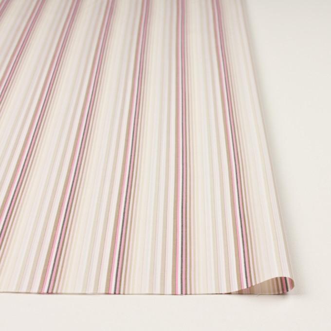 コットン×ストライプ(ピンク&カーキベージュ)×ブロードジャガード イメージ3