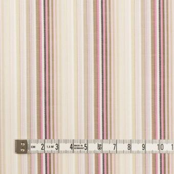 コットン×ストライプ(ピンク&カーキベージュ)×ブロードジャガード サムネイル4