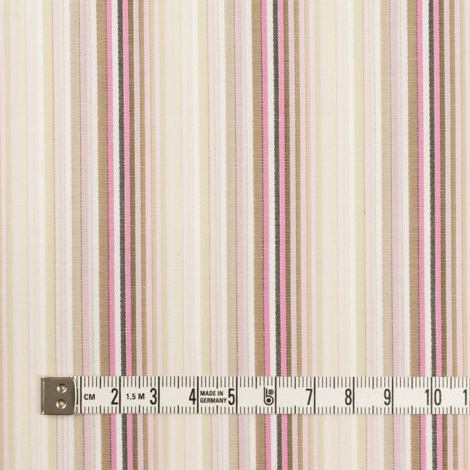 コットン×ストライプ(ピンク&カーキベージュ)×ブロードジャガード イメージ4