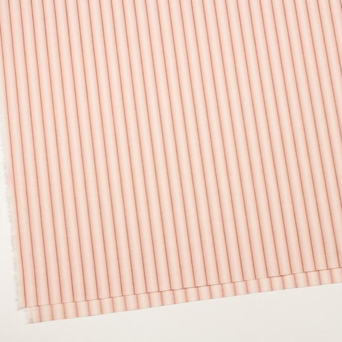 コットン&リネン×ストライプ(ピーチ)×ポプリンジャガード_全2色 イメージ2