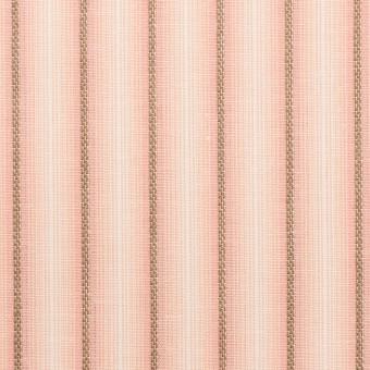 コットン&リネン×ストライプ(ピーチ)×ポプリンジャガード_全2色