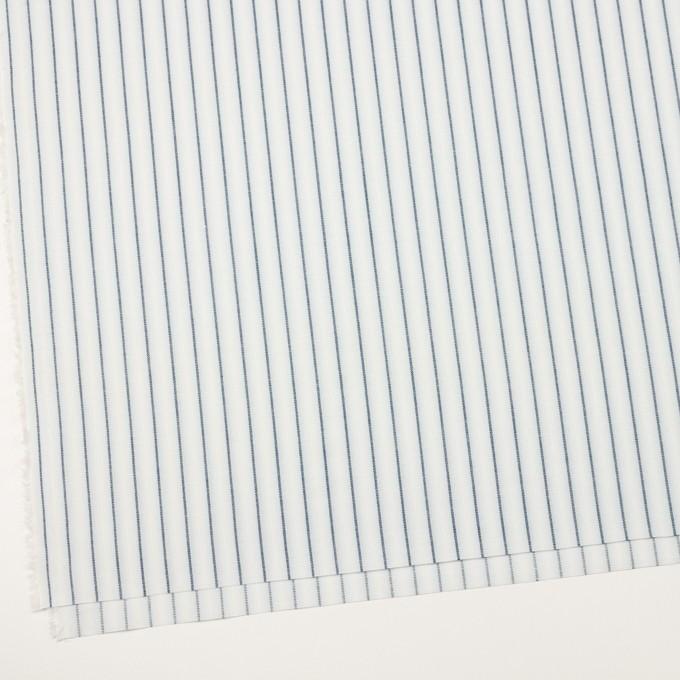 コットン&リネン×ストライプ(ブルーグレー)×ポプリンジャガード_全2色 イメージ2