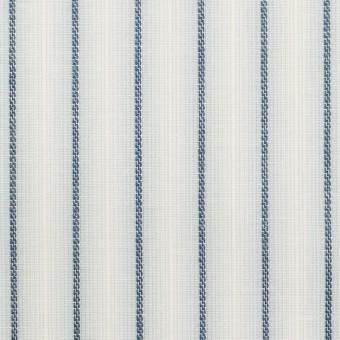 コットン&リネン×ストライプ(ブルーグレー)×ポプリンジャガード_全2色