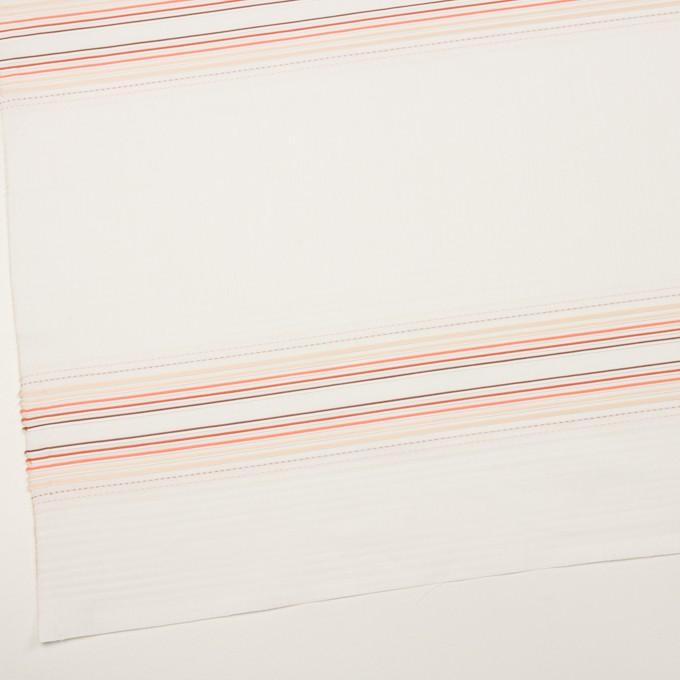 コットン×ボーダー(オレンジ&ネープルス)×ピンタック・ジャガード イメージ2