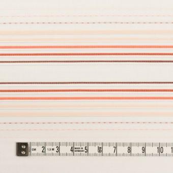 コットン×ボーダー(オレンジ&ネープルス)×ピンタック・ジャガード サムネイル4