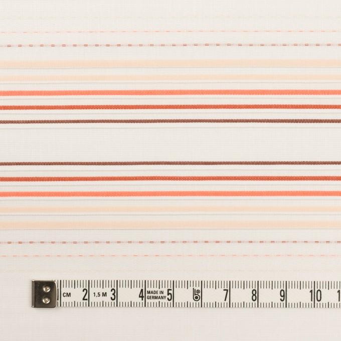 コットン×ボーダー(オレンジ&ネープルス)×ピンタック・ジャガード イメージ4