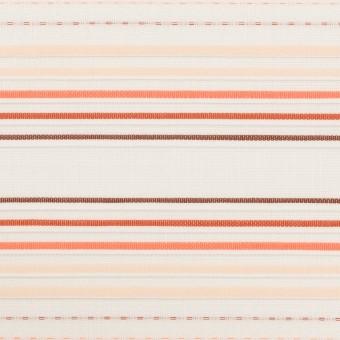 コットン×ボーダー(オレンジ&ネープルス)×ピンタック・ジャガード サムネイル1