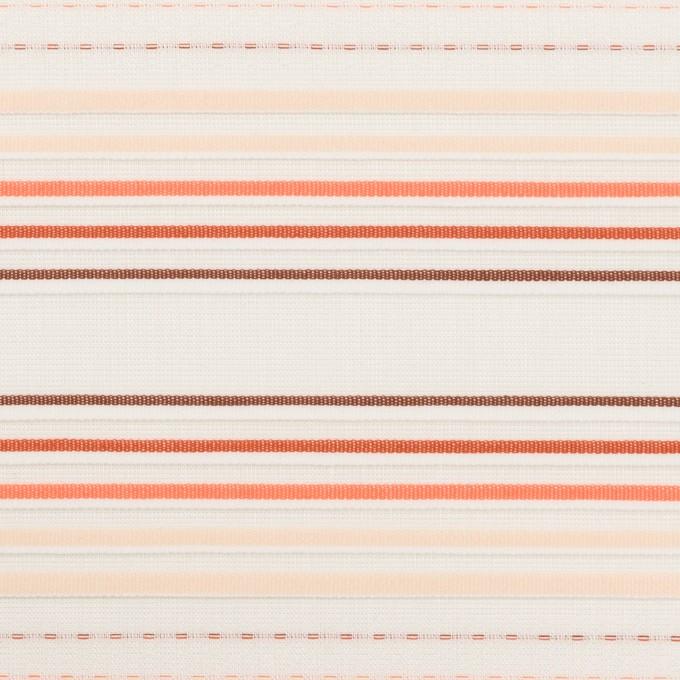 コットン×ボーダー(オレンジ&ネープルス)×ピンタック・ジャガード イメージ1