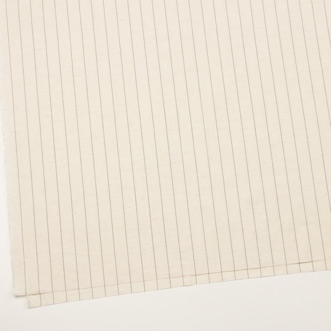 コットン&リネン×ストライプ(エクリュ&ブラック)×ポプリン イメージ2