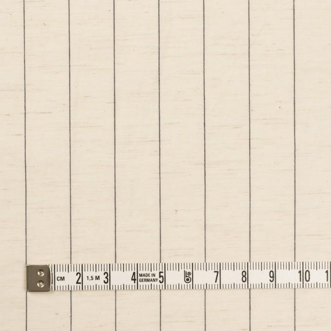 コットン&リネン×ストライプ(エクリュ&ブラック)×ポプリン イメージ4
