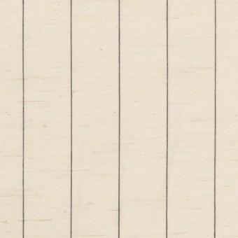 コットン&リネン×ストライプ(エクリュ&ブラック)×ポプリン サムネイル1