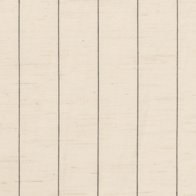 コットン&リネン×ストライプ(エクリュ&ブラック)×ポプリン イメージ1