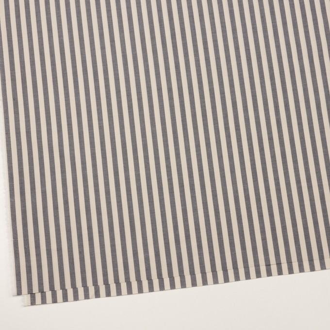 コットン×ストライプ(グレイッシュベージュ&チャコール)×ローン イメージ2