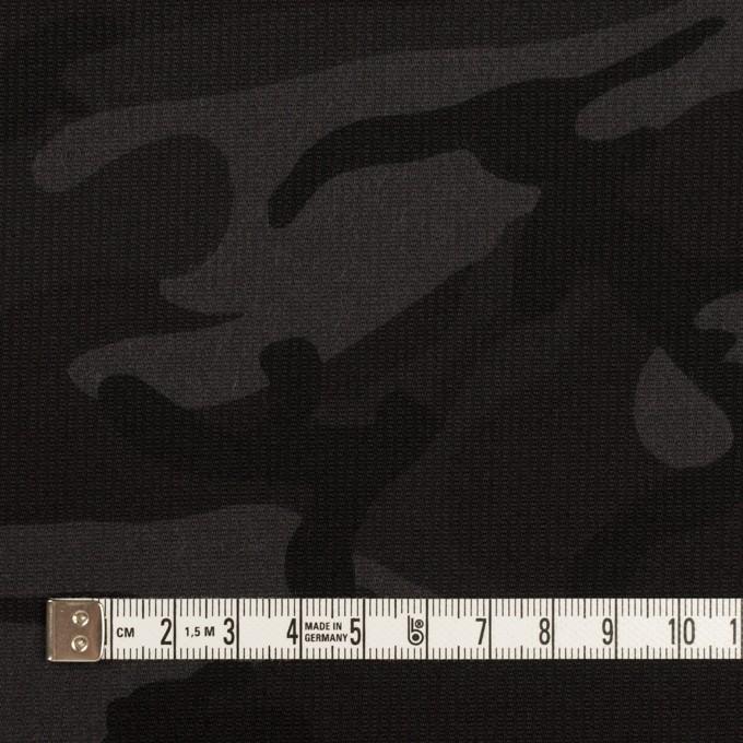 コットン&ポリウレタン×迷彩(チャコール)×コード織ストレッチ イメージ4