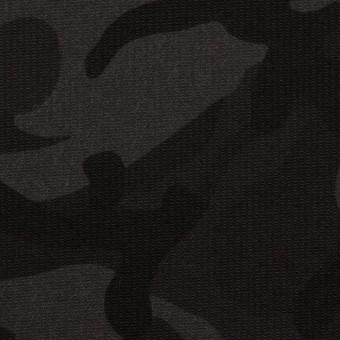 コットン&ポリウレタン×迷彩(チャコール)×コード織ストレッチ サムネイル1