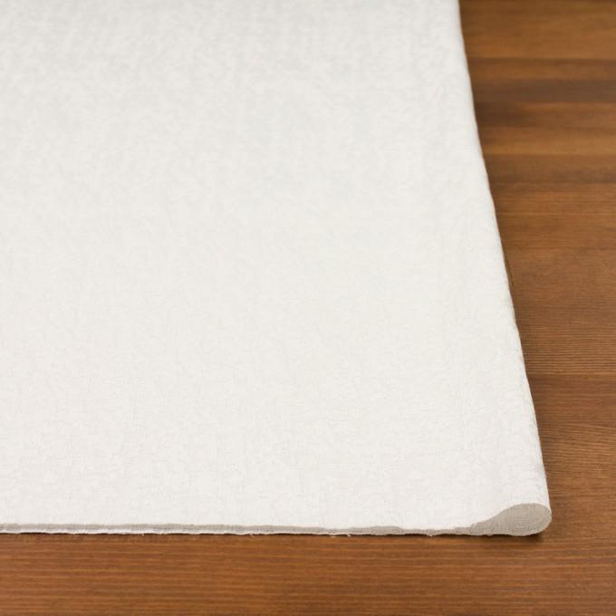 ポリエステル&レーヨン混×幾何学模様(ミルク)×フクレジャガード・ストレッチ イメージ3