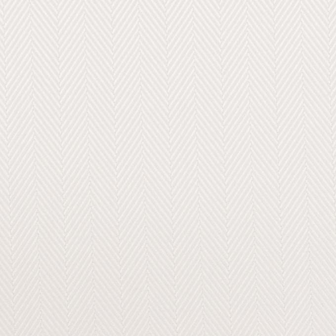 コットン×無地(ホワイト)×ヘリンボーン イメージ1