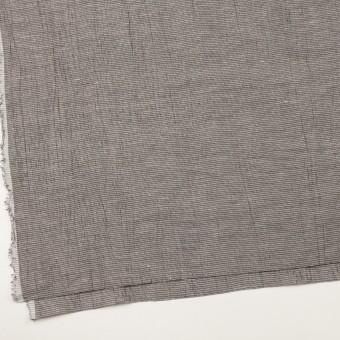 コットン&ポリエステル×チェック(シルバー&ブラック)×斜子織ワッシャー サムネイル2
