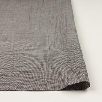 コットン&ポリエステル×チェック(シルバー&ブラック)×斜子織ワッシャー サムネイル3
