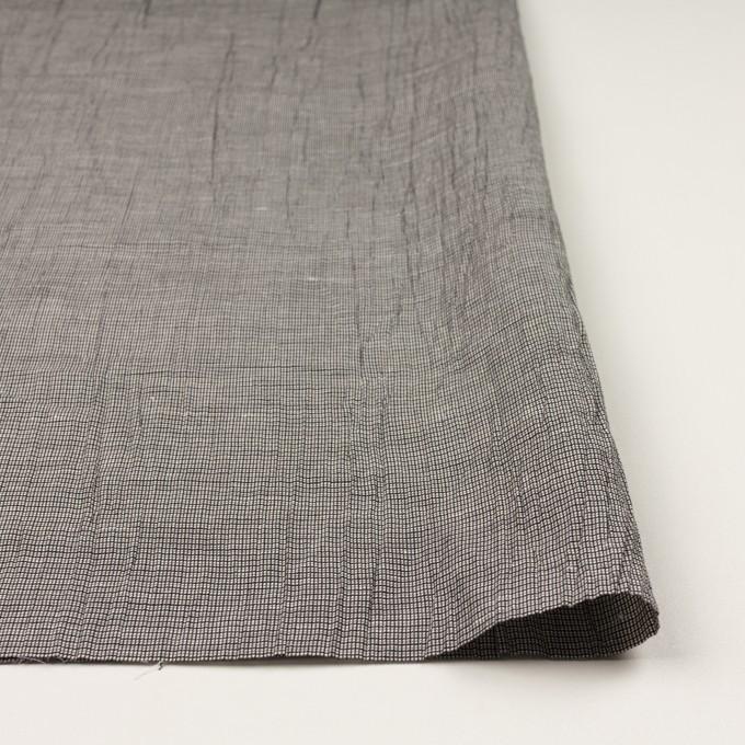 コットン&ポリエステル×チェック(シルバー&ブラック)×斜子織ワッシャー イメージ3