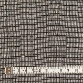 コットン&ポリエステル×チェック(シルバー&ブラック)×斜子織ワッシャー サムネイル4