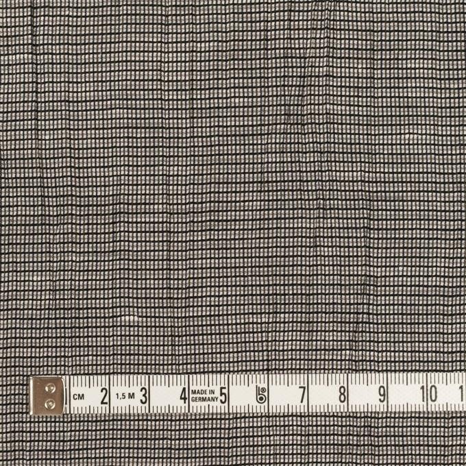 コットン&ポリエステル×チェック(シルバー&ブラック)×斜子織ワッシャー イメージ4
