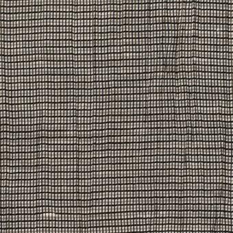 コットン&ポリエステル×チェック(シルバー&ブラック)×斜子織ワッシャー サムネイル1