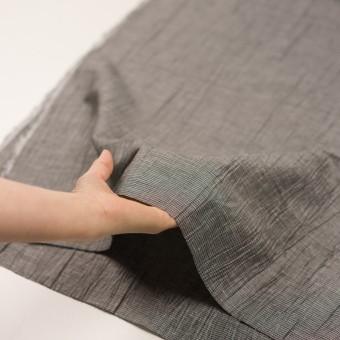 コットン&ポリエステル×チェック(シルバー&ブラック)×斜子織ワッシャー サムネイル5