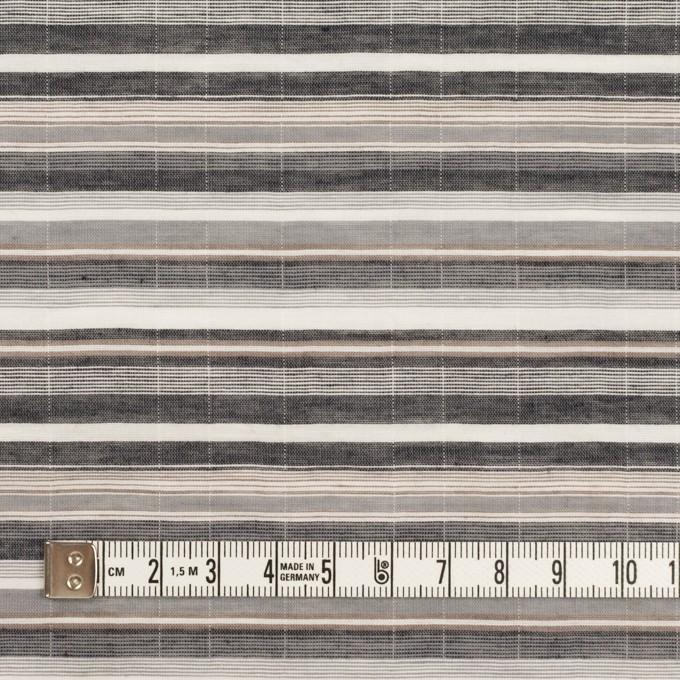 コットン&テンセル混×ボーダー(グレー)×ボイルシャーリング イメージ4