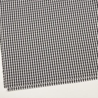 コットン&シルク×チェック(アイボリー&ブラック)×ローン サムネイル2