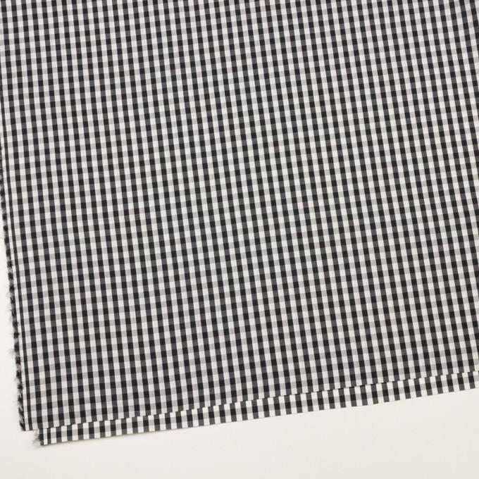 コットン&シルク×チェック(アイボリー&ブラック)×ローン イメージ2