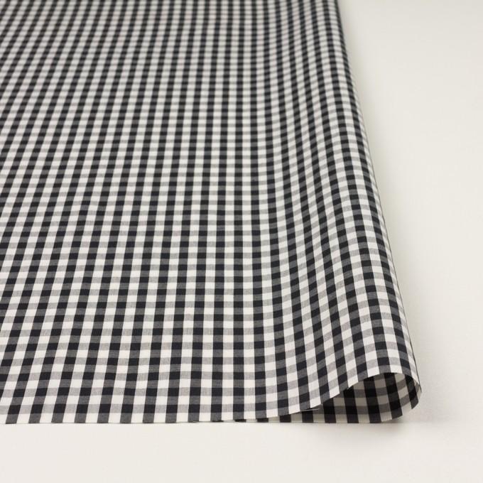 コットン&シルク×チェック(アイボリー&ブラック)×ローン イメージ3