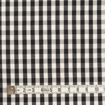 コットン&シルク×チェック(アイボリー&ブラック)×ローン サムネイル4