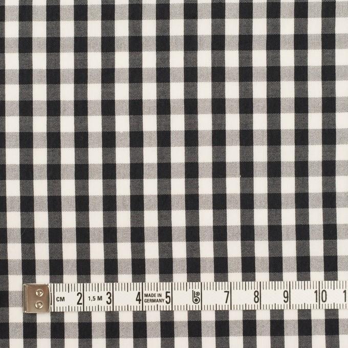 コットン&シルク×チェック(アイボリー&ブラック)×ローン イメージ4
