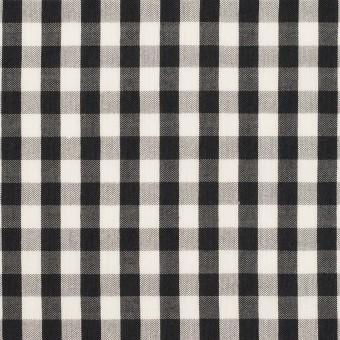コットン&シルク×チェック(アイボリー&ブラック)×ローン