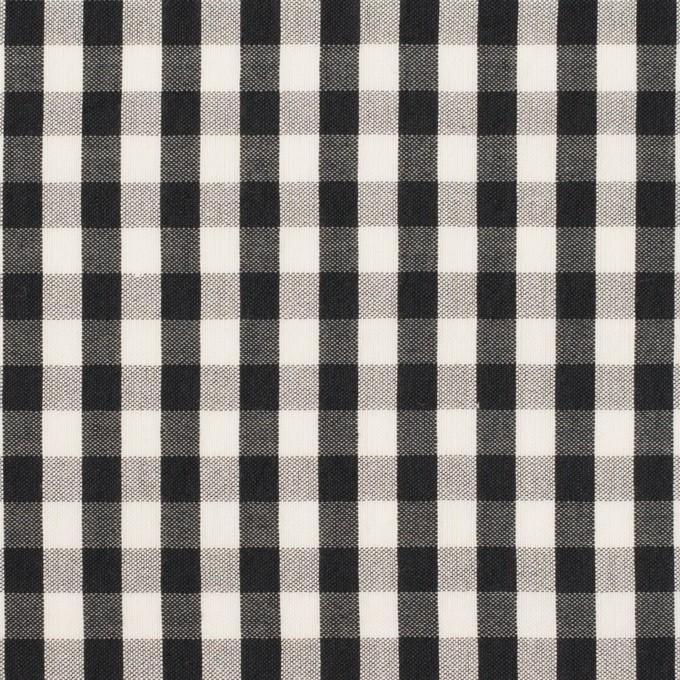 コットン&シルク×チェック(アイボリー&ブラック)×ローン イメージ1