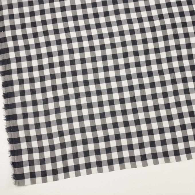シルク&キュプラ×チェック(アイボリー&ダークネイビー)×シフォン イメージ2