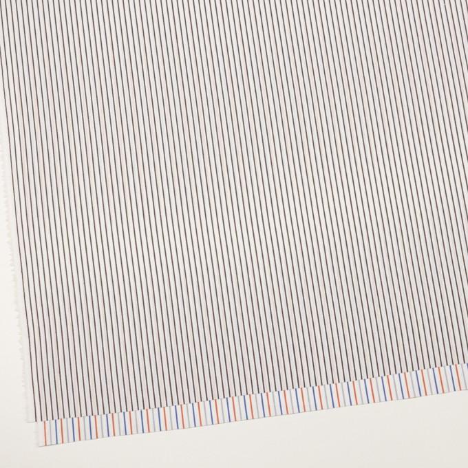 コットン×ストライプ(アッシュブラウン+オレンジ&ブルー)×ブロードジャガード_全2色 イメージ2
