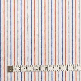 コットン×ストライプ(アッシュブラウン+オレンジ&ブルー)×ブロードジャガード_全2色 サムネイル6